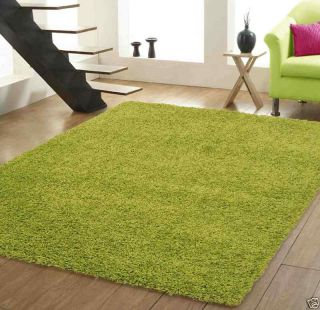 Large Lime Green Living Room Carpet x Luxury Shaggy Rug
