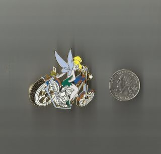 Disney Tinkerbell Harley Davidson Motorcycle Pin New Purple Wings