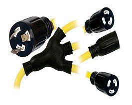 Heavy Duty Twist Lock w Adapter Male to Female Stjo 12 Guage SE1537