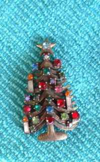 Vintage Weiss Christmas Tree Pin Estate