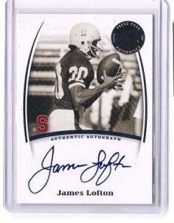 JAMES LOFTON 2007 Press Pass Legends AUTO AUTOGRAPH GREEN BAY PACKERS