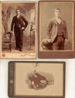 Antique Photographs CDVs Scottish Men Cowdenbeath Alloa Lochgelly