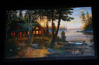 Log Cabin Sign Rustic Lodge style wall decor plaque peaceful country