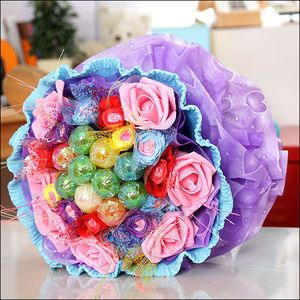 Hyundai Hmall Classic Candy Bouquet Blue Gift Flower Decoration Korean