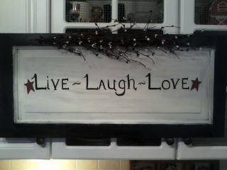 Primitive Live Laugh Love Door Panel