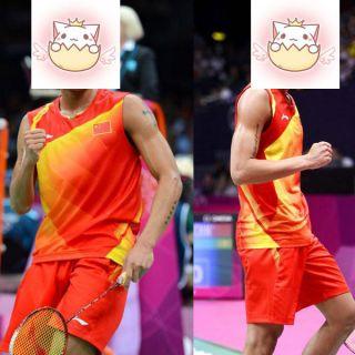Lining Mens London Olympic 2012 Li Ning Badminton Sleeveless Shirts
