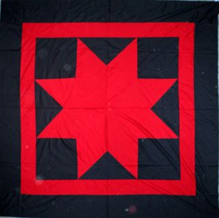 Amish Lone Star Recreated 1850 Original Quilt Top