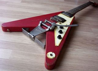 Lonnie Mack Number 7 Gibson Epiphone 58 Korina Flying V Bigsby Relic