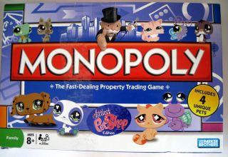 Littlest Pet Shop Monopoly Edition Board Game 3 pet Polka Dot Ear