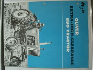 Oliver 880 Extra High CLEARANCE Tractor Brochure Very RARE Hi Crop