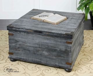 Wood Storage Style Coffee Table Mexico Coyboy Look Cocktail