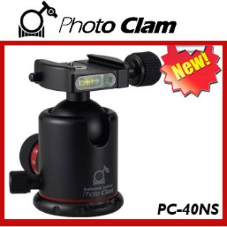Photo Clam Anodized Ball Head w/ Friction Control PC 40NS (Black