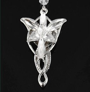 Vintage Lord of The Rings Movie Arwen Evenstar Silver Tone Pendant