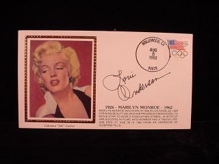 Loni Anderson Autographed Marilyn Monroe Cover