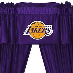 Los Angeles Lakers Basketball Window Valance Drapes Set
