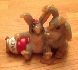 NIB Charming Tails Honey Bunnies 84 112 Fitz and Floyd Collectibles