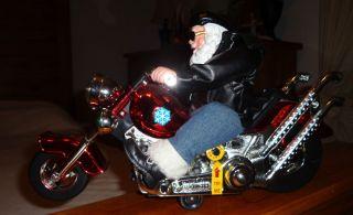 Christmas Holiday Musical Born To Be Wild MOTORCYCLE & SANTA Biker