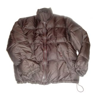 Loro Piana Brown Leather Trim Feather Down Puffer Winter Parka Jacket