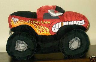 Monster Jam Plush Truck El Toro Loco w Sound