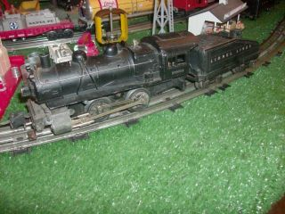TRAINS PRE WAR 1663 0 4 0 DIE CAST SWITCH LOCO & TEND GOOD RUNNER NICE