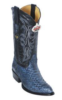 Python Skin Rustic Blue Los Altos Mens Cowboy Boots Western Classics