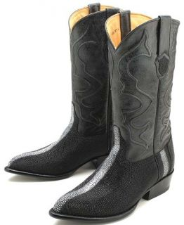Genuine Stingray Rowstone Los Altos Black Mens Western Cowboy Boots J