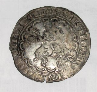 Silver Coin Double Gros Plak Louis de Male RARE XF 1346