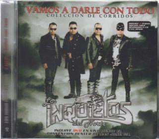 Los Inquietos Del Norte CD + DVD NEW Vamos A Darle Con Todo Coleccion