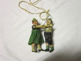 Antique Wooden Folk Art String Mechanical Toy