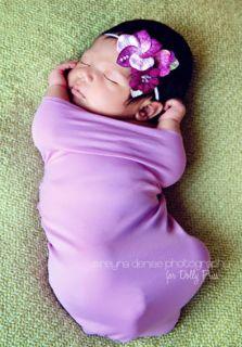 Lovely Lilac Lola Baby Flower Headband Lilacs Purple Pink infant