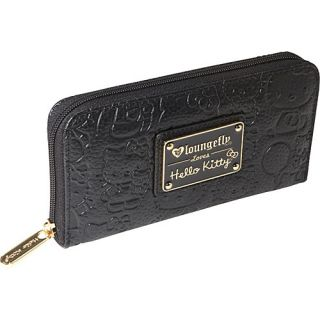 Loungefly Hello Kitty Black Embossed Face Wallet