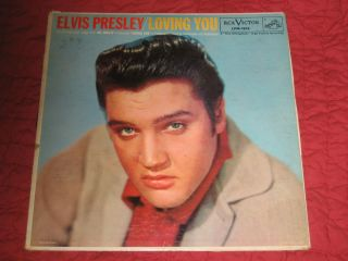Elvis Presley Loving You Original LP LPM 1515 from Hal Wallis Loving