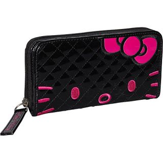 Loungefly Hello Kitty Qulited Face Wallet Black