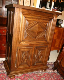 Louis XIII French Antique Drop Front Secretary Desk Made from Oak
