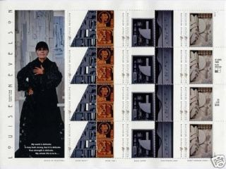 Louise Nevelson Pane 20 x 33 Cent U s Postage Stamps 1