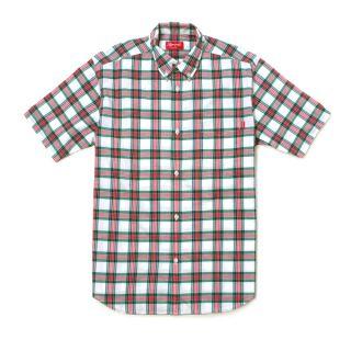 Supreme Summer Box Plaid Shirt Tee Green M