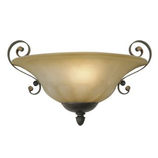 New 1 Light Wall Sconce Lighting Fixture Crackle Bronze Creme Brulee