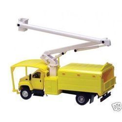 87 HO Scale Boley GMC Topkick 2 Axle Tree Trimmer Truck Yellow 3024