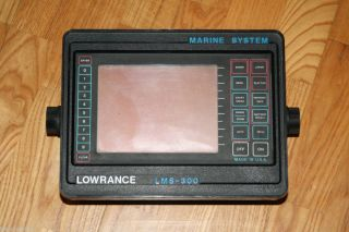 Lowrance LMS 300 GPS Marine System Fish Finder Replacement Head