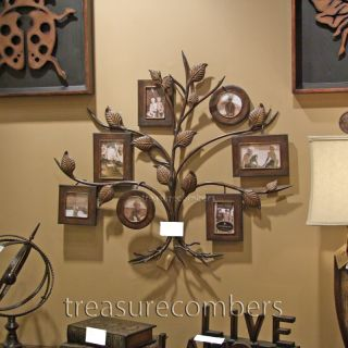 Tuscan Tree Wall Art Photo Collage Hand Forged Metal