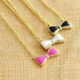 S0BZ Lovely Fashion Style Necklace Short Chain Qualities Rhinestone