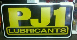 PJ1 Lubricants Motorcycle ATV Honda Yamaha Kawasaki KTM Metal Sign
