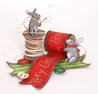 The Round Top Collection Christmas Mice CUTE Adorable Decor for the