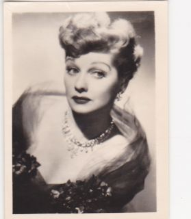 Lucille Ball 1950s Greiling Film Star Glamour German Cigarette Card