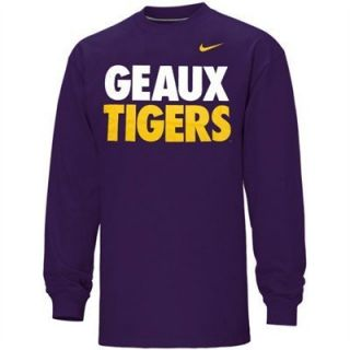 LSU Tigers Geaux Tigers Shirt Jersey by Nike Adult 2XL