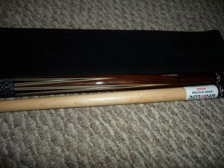 Lucasi LER LE R pool cue and case 19oz Rosewood uni lok radial joint