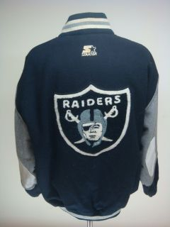Vintage Los Angeles Raiders NFL Starter Wool Varsity Jacket Sz XLarge
