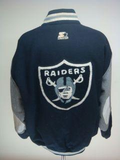 Vintage Los Angeles Raiders NFL Starter Wool Varsity Jacket Sz XLarge