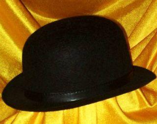 New Charlie Chaplin Black Felt Bowler Derby Top Hat