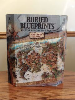 Buried Blueprints Lost City of Atlantis 1000 pc Jigsaw Puzzle NEW